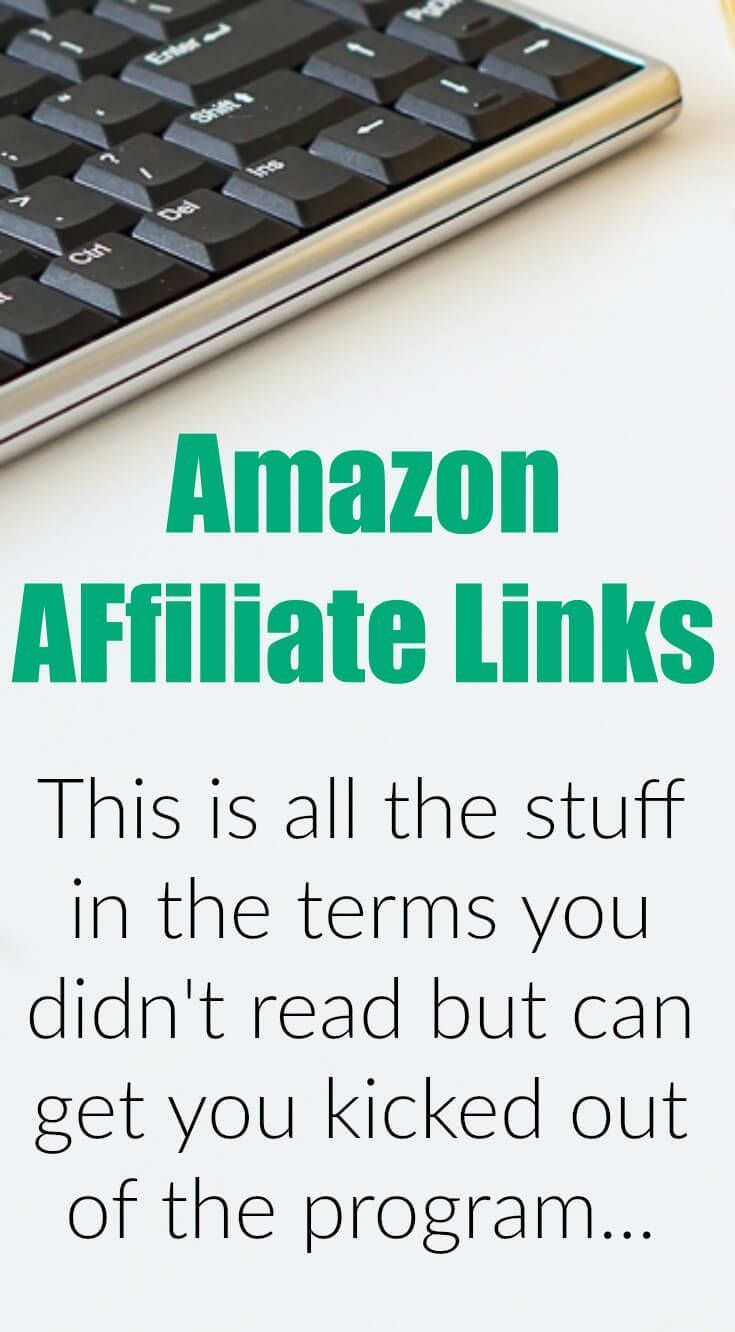 Here's how to use Amazon affiliate links on Pinterest, social media, and blogs (legally). Use these helpful tips to make more money blogging and not get KICKED OUT! via @ndcfullcircle