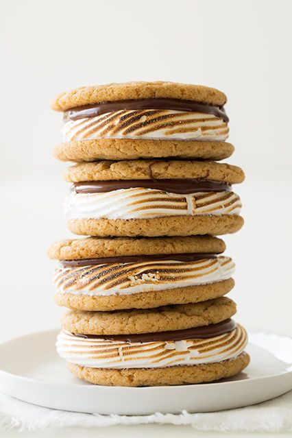 S'mores Cookie Sandwiches from @Jaclyn Booton {Cooking Classy}