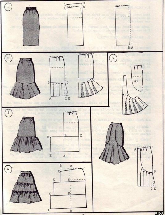 Patterns - sewing beginners - pattern making! So many skirts model drawings - maomao - I move your feet