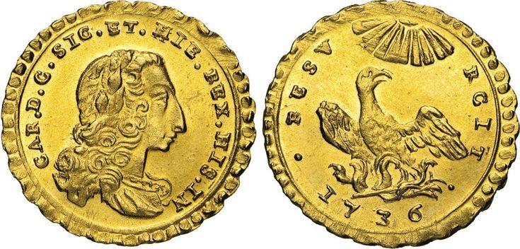 NumisBids: Numismatica Varesi s.a.s. Auction 65, Lot 530 : PALERMO - CARLO DI BORBONE (1734-1759) Oncia 1736. Sp. 55 Au ...