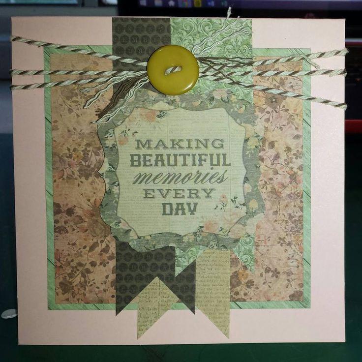 Square Card - Kaisercraft Rustic Harmony collection ~Karyn Watton