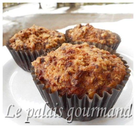 De délicieux muffins à se mettre sous la dent soit pour le déjeuner ou en collation. La recette vient du blog de, Jasmine Cuisine . 1 ta...
