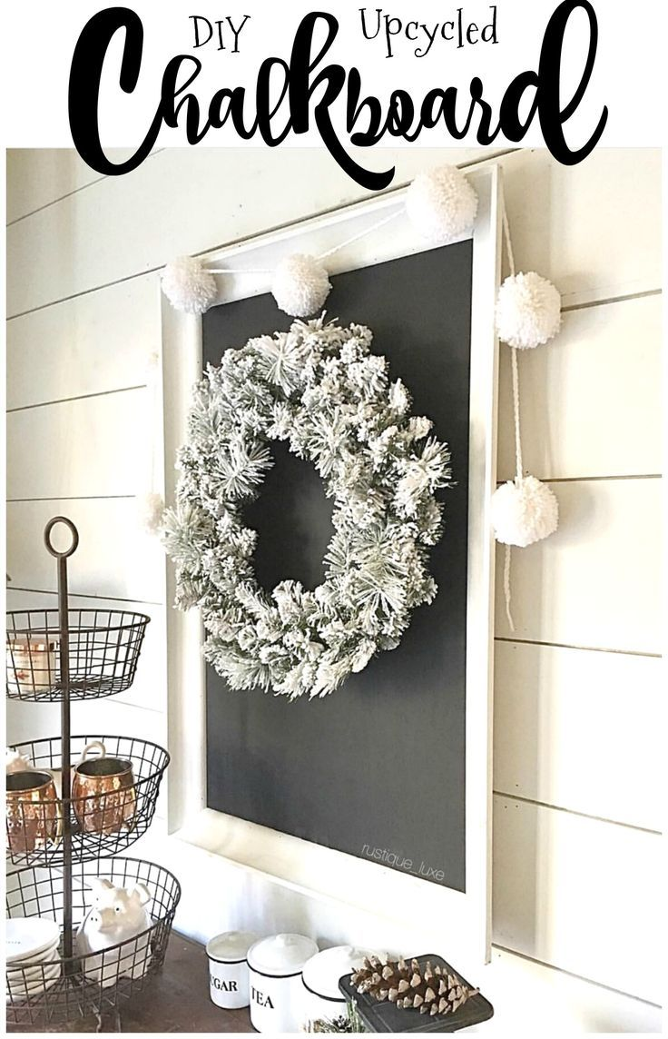 DIY Upcycled Chalkboard