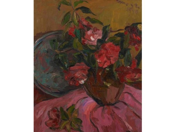 Irma Stern 'Still Life with Camellias;