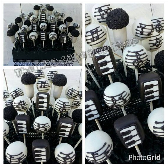 Music Cake Pops Rock and Roll Party Karaoke di TheMaDCakePopShop