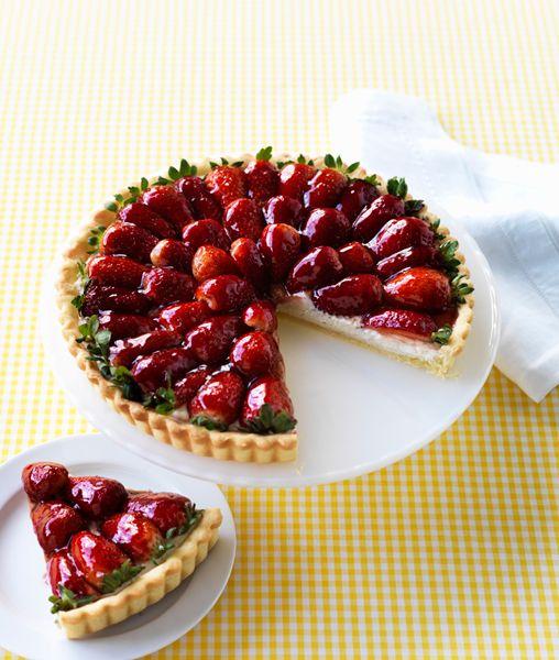 Strawberry and Mascarpone Cream Tart