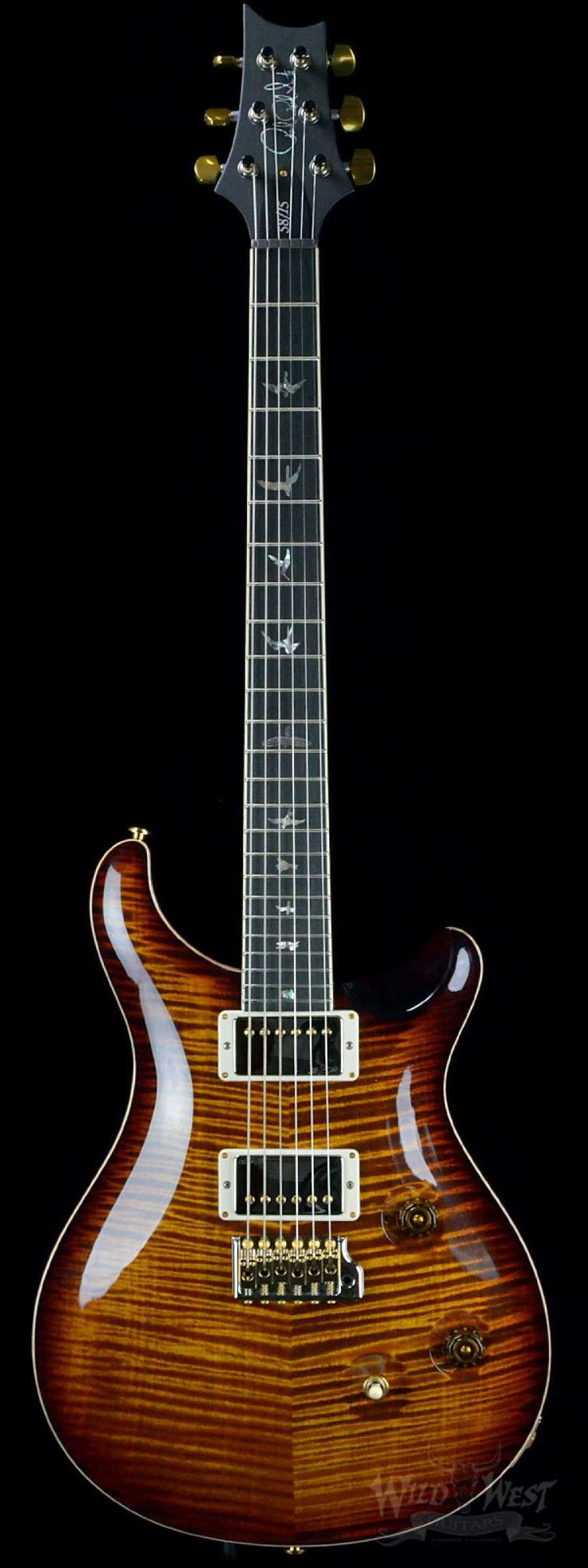PRS Paul Reed Smith Custom 24 Limited 58/15 Black Gold Artist Grade Top - Pattern Regular