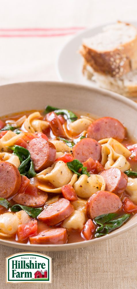 Need a delicious dinner the whole family will love? Get the recipe for Smoked Sausage Tortellini and more here!