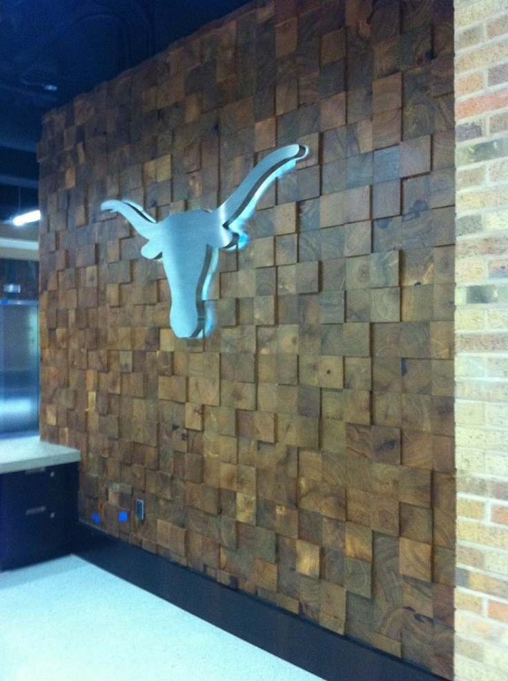 Mesquite End Grain Wall At Dkr Stadium University Of Texas