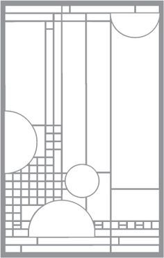 frank lloyd wright stained glass patterns free - Google Search