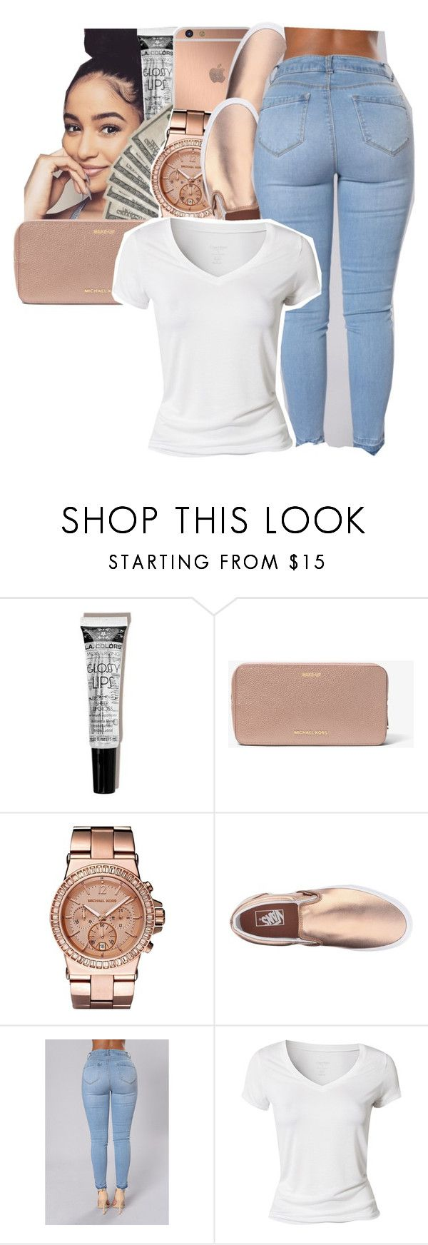 """"""""""" by glowithbria ❤ liked on Polyvore featuring Mura, Michael Kors, Vans and Calvin Klein"""
