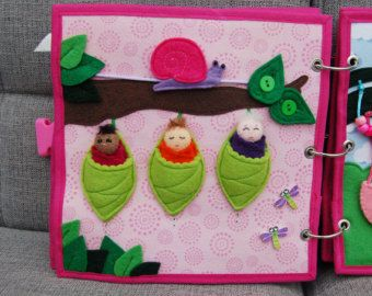 Fairybook 2 Quiet book pages Bed Bath PATTERN & by MirzaCrafts