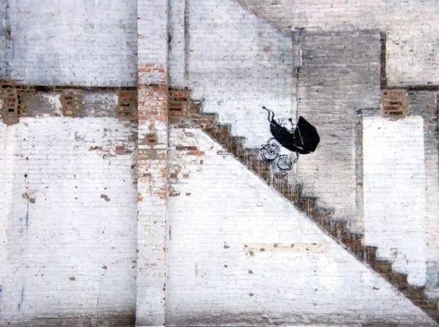 Funny street art by Banksy