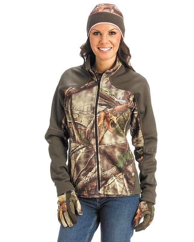 Huntworth Women's Camo Zip Front Windproof Tech Jacket #women #Camo #camouflage #hunting