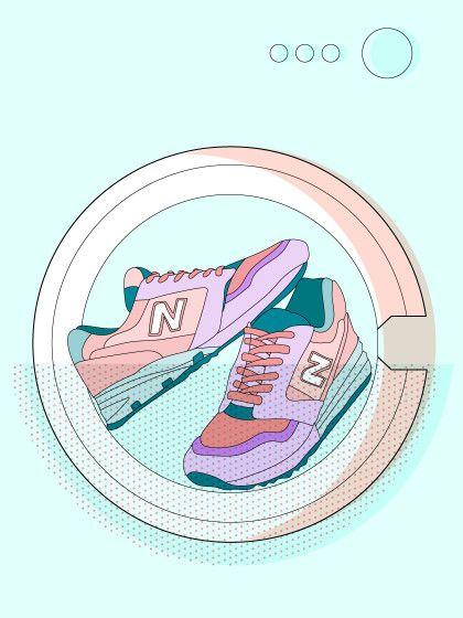 Bei schmutzigen Schuhen hilft manchmal einfaches Schrubben nicht mehr. Da bleibt nur noch die Waschmaschine - wir verraten dir worauf du achten solltest.