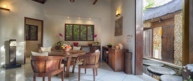 Villa 11 dining area at Villa Kubu, Seminyak, Bali