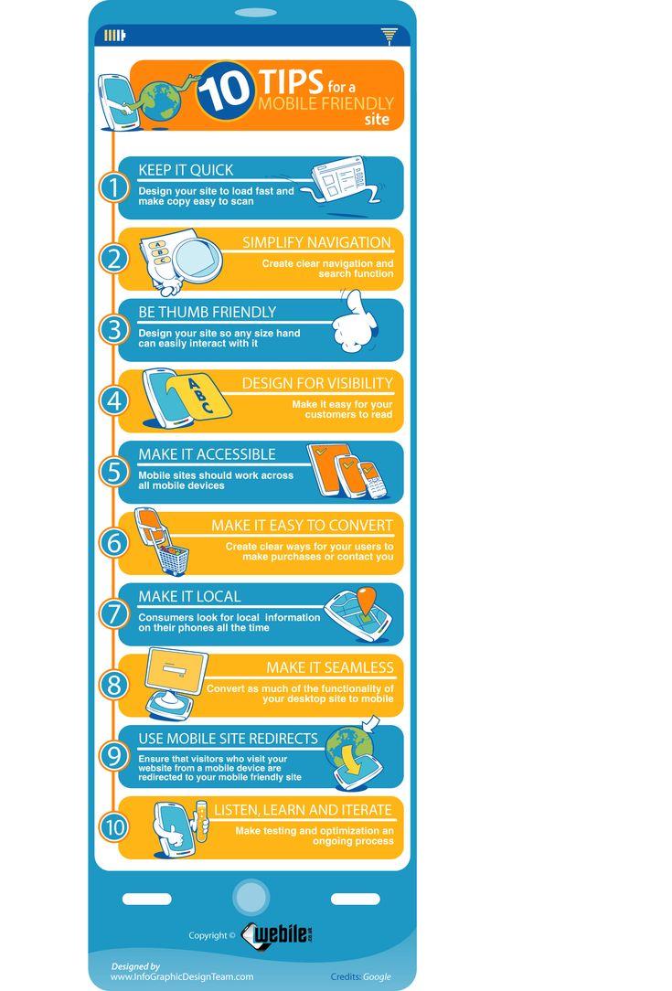 Infographics - 10 Tips For A Mobile Friendly Site