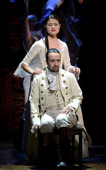 Actor composer Lin-Manuel Miranda and actress Phillipa Soo