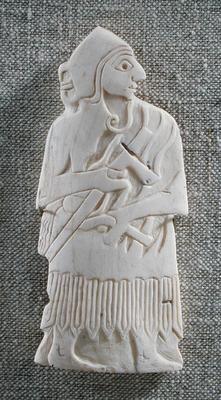 Warrior chief, Mari; c. 2500 BC (shell) (see also 326736) Mesopotamia  Louvre Museum
