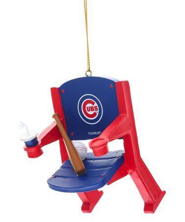 Love this Chicago Cubs Stadium Chair Ornament on #zulily! #zulilyfinds