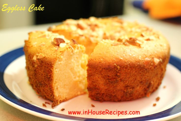 Eggless Cake In Oven or Microwave Convection | Recipe ...