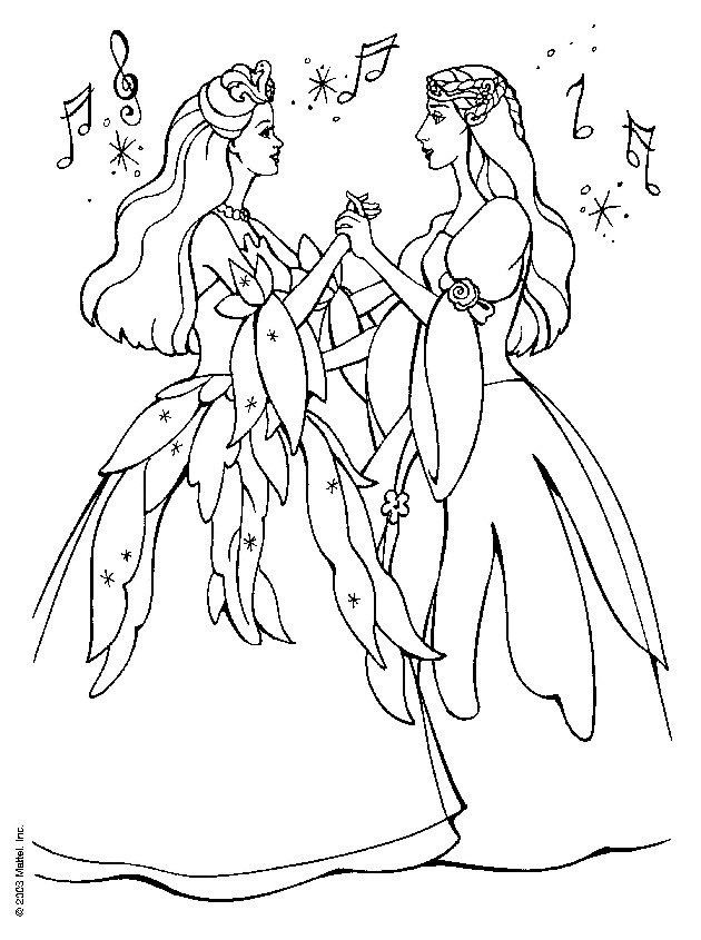 Drawings Of Barbie Coloring Pages