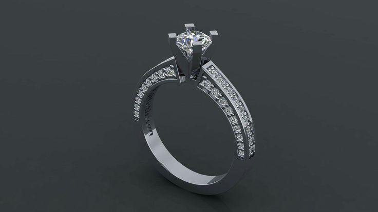 Ring platinum and diamonds! Μονοπετρο από πλατίνα με διαμάντια!