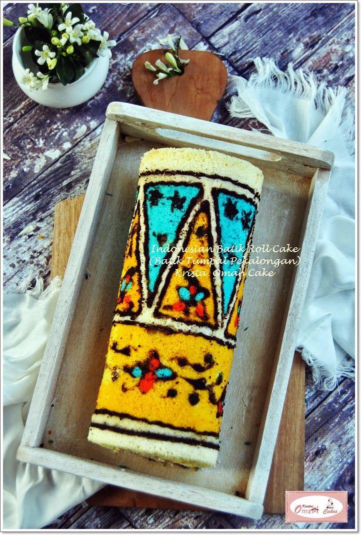 KRISTA MOCAF KITCHEN: Indonesian Batik Roll Cake - Batik Tumpal Pekalong...