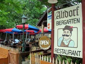 Altdorf Biergarden... Every time I go, they serve me a dish that is no longer on the menu...but it's my favorite and they are awesome!
