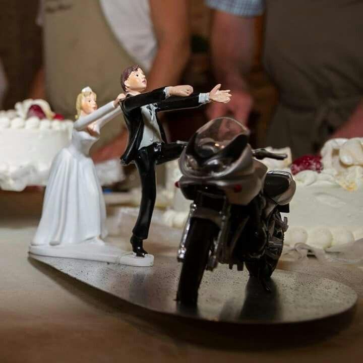Vrai mariage / Cake toper / mariage / moto / figurine mariage