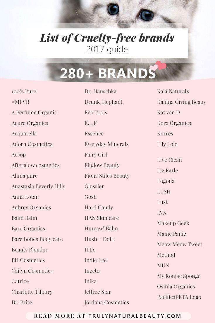 List of crueltyfree brands guide 2017 cruelty free