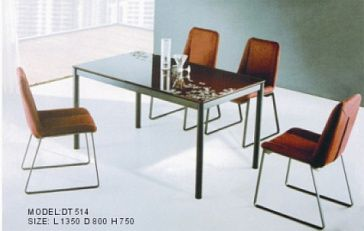 Стол обеденный Столешница - закаленное стекло 10 мм, каркас, ножки - сталь, серебристое порошковое покрытие