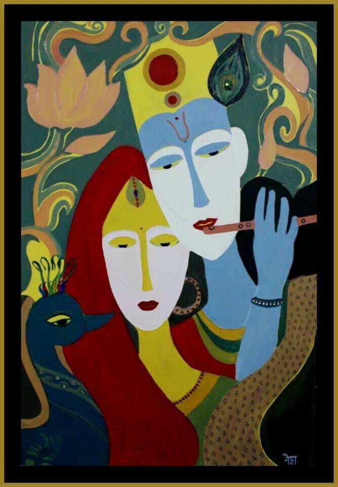 Radha Krishna.. Oil on canvas