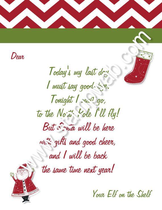 The  Best Elf Goodbye Letter Ideas On   Goodbye