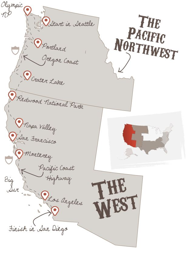 Interesting I came across the Ultimate West Coast road trip.