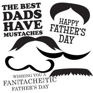 Father's Day card mustache printable
