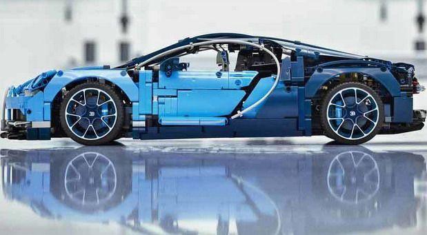 Bugatti Chiron Lego Technic Kit 2018 With 3599 Blocks Inside Cars