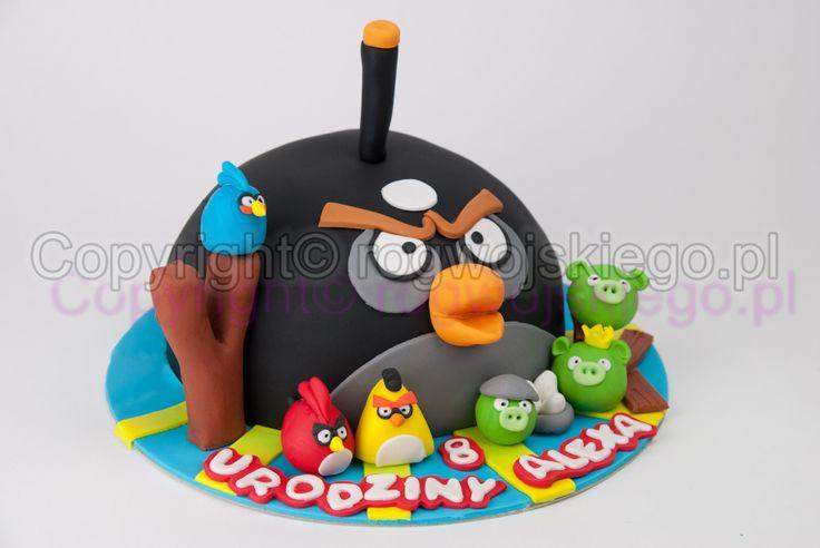 angry bird cake, tort angry birds, tort dla chłopca, cake for a boy, pracownia tortów gdańsk
