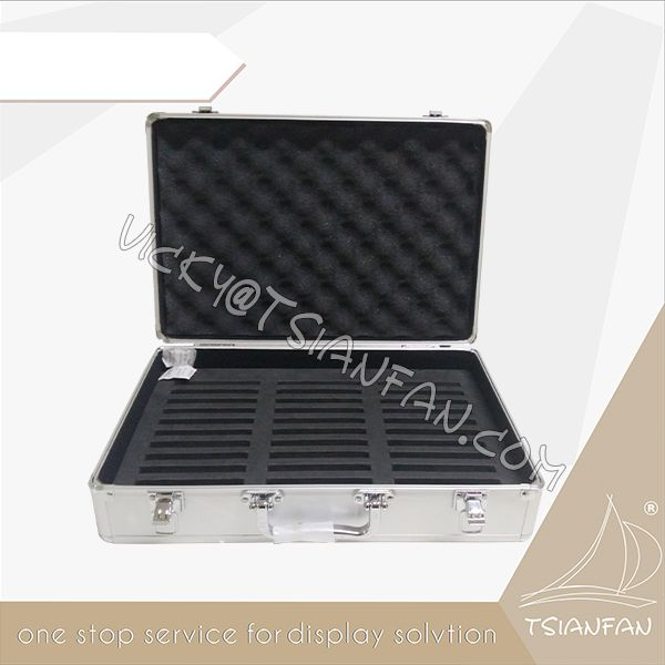 Aluminum Portable Quartz Stone Display Sample Suitcase