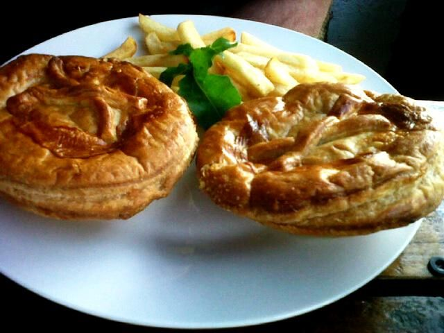 Pie, chips and gravy from Lilly's Bread Bin in Margate