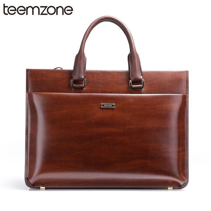 "HOT Men's Genuine Leather Vintage Formal Business Lawyer Briefcase Tote 15"" loptop Messenger Shoulder Attache Portfolio T0650"