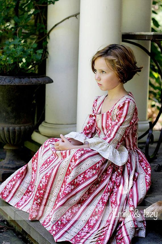 Custom Girls Colonial Dress sizes 10 12 & 14 by EmilyandIzzy, $90.00