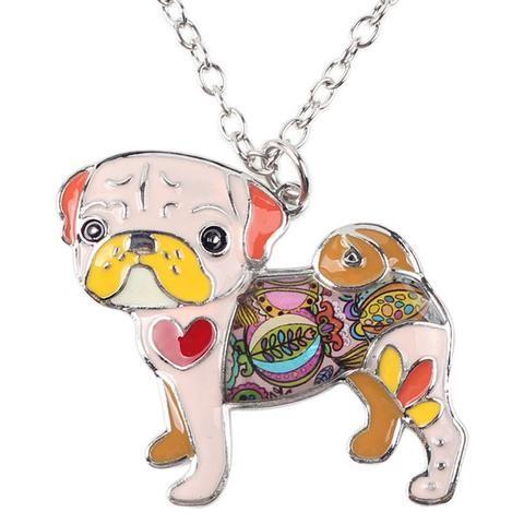Pop Art Pug Necklace (6 styles)