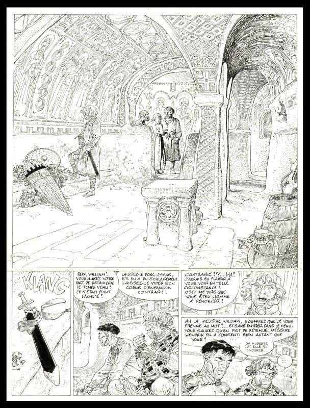 Tours de Bois-Maury : 08. Le Seldjouki par Hermann - Planche originale