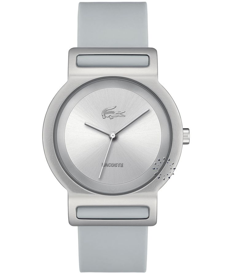 LACOSTE GOA Grey Rubber Strap Η τιμή μας: 109€ http://www.oroloi.gr/product_info.php?products_id=35414