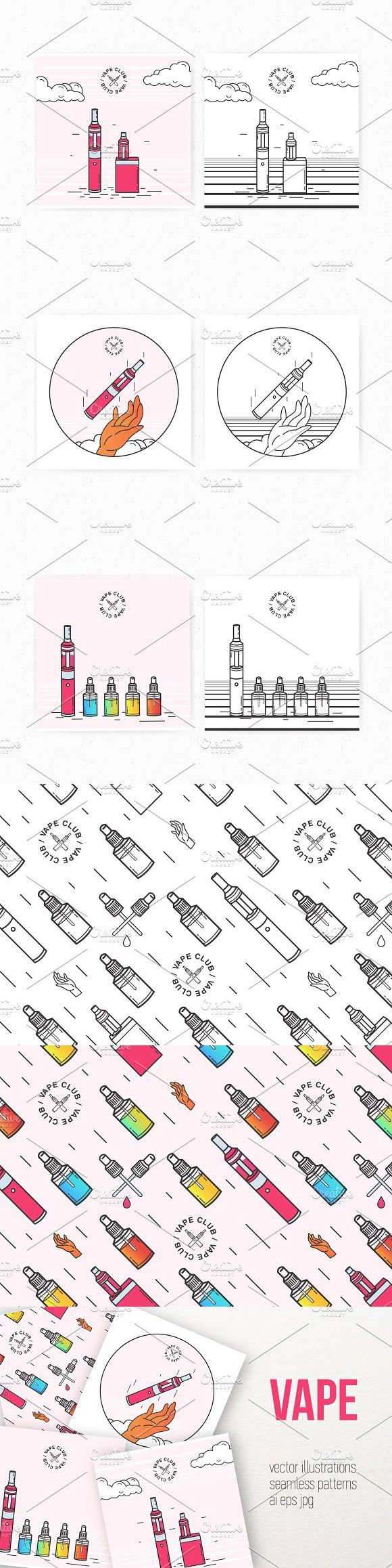 Bundle and pattern with vape devices #advertising #battery