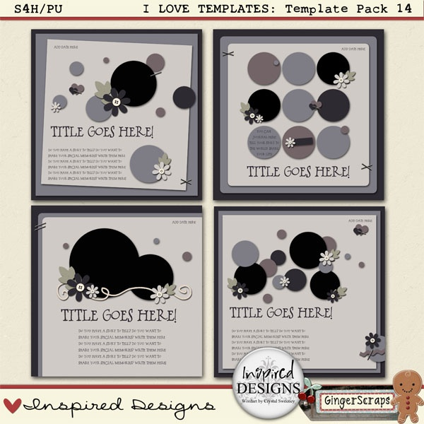 I LOVE TEMPLATES: Template Pack 14