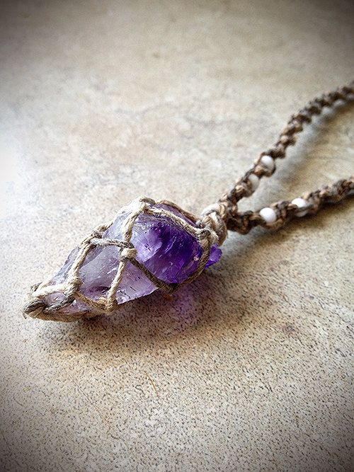 Hey, I found this really awesome Etsy listing at http://www.etsy.com/listing/156671084/amethyst-crystal-natural-hemp-necklace