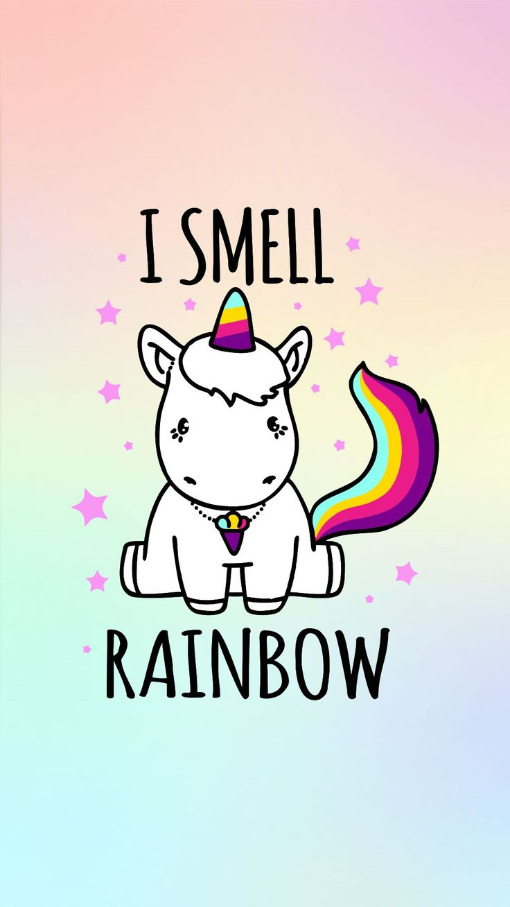 I smell rainbow wallpaper pastel goth pinterest What do unicorns smell like