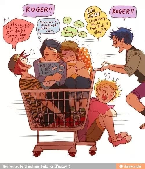 Free! ~~~ Shopping with the boys this is awesome! XD